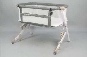 BEDSIDE SLEEPER with mattress (BONUS Carry bag) - WHITE WASH COLOUR