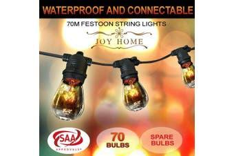 70m Festoon String Lights Light Wedding Party Christmas Waterproof Outdoor