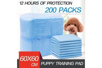 200pcs Puppy Pet Dog Indoor Cat Toilet Training Pads Absorbent Thin 60X63cm Blue