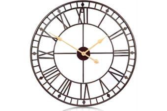 80cm Wall Clock European Creative Iron Round Non-fading Living Room Silense