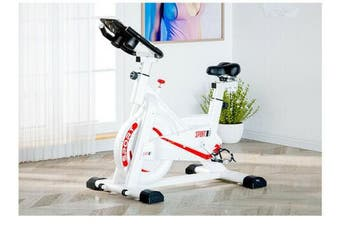 White Color Exercise Spin Bike Home Gym Workout Equipment Cycling Fitness Bicycle 8kg Wheels