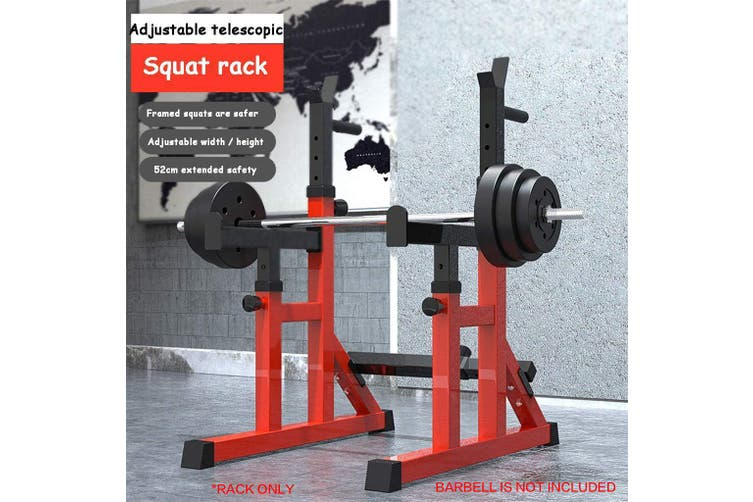 Adjustable Squat Rack Barbell Rack Bench Press Weight Lifting Home Gym Thickened