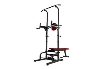 Foldable Dip Tower Bar Chin Push Pull Up Stand Fitness Station Bench Gym Fitness