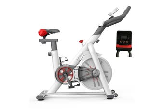 White Exercise Spin Bike Flywheel Fitness Commercial Home Gym Unique Design