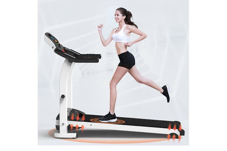 Folding Motorised Treadmill Walking Ultra Pulse Sensor Thin Silent Intended Slope Exercise