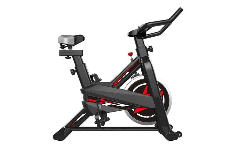 Exercise Spin Stationary Bike 8kg Flywheel Fitness Commercial Home Workout Gym LCD Screen