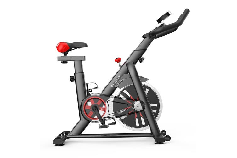 8kg Exercise Spin Bike Flywheel Fitness Commercial Home Gym Black Unic Design