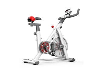 8kg Exercise Spin Bike Flywheel Fitness Commercial Home Gym White Unic Design