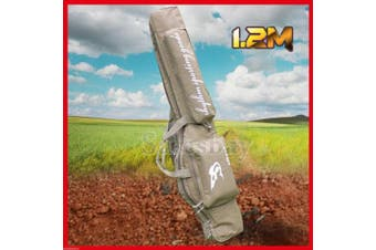 Adjustable 1.2m Hunting Shooting Carry Case Shotgun Rifle Gun Sip Double Bag Tan