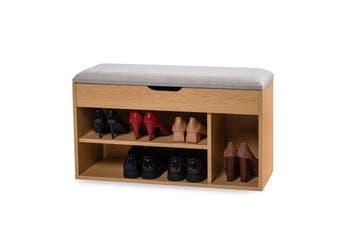 80cm Stool Rack Storage Box Cupboard Organiser Shelf Shoe Cabinet Bench