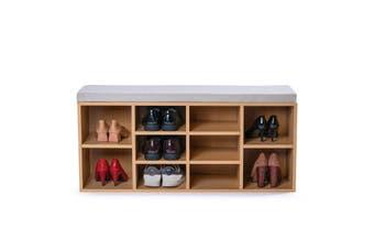 102cm Stool Rack Storage Box Cupboard Organiser Shelf Shoe Cabinet Bench
