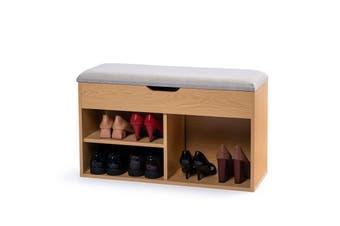 Stool Rack Storage Box Cupboard Organiser Shelf Shoe Cabinet Bench 80cm