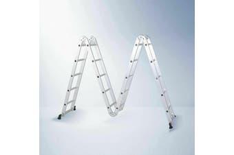 5.7M Aluminium Ladder Extension Multipurpose Folding Adjustable steps w Foot Bar