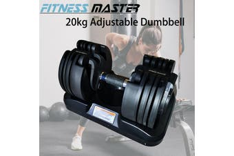 Fitness Master 20kg Adjustable Dumbbell Home Gym Exercise Equipment Weights Fitness Workout