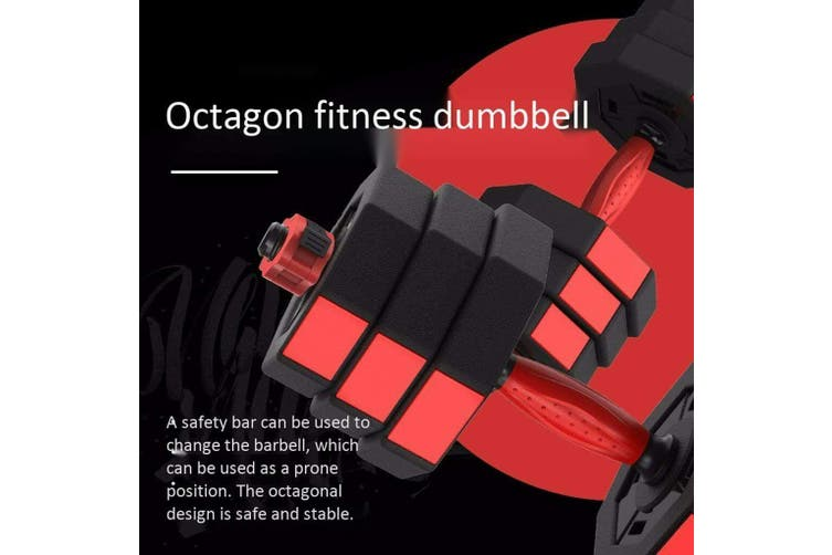 20kg Adjustable Dumbbell Set Octagonal Anti-roll Dumbbell Barbell Fitness Training