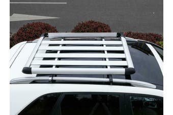 140*100 Silver Single Aluminium AlloySUV 4x4 RoofRack Basket Cargo Luggage Carrier Box