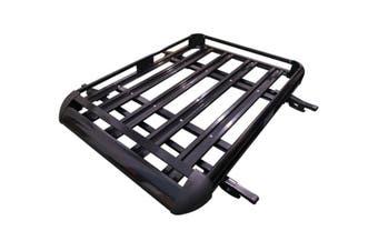 160*100 Black Double Aluminium AlloySUV 4x4 RoofRack Basket Cargo Luggage Carrier Box