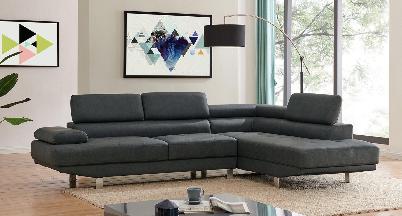 Right Corner 2 8m Modern Black Fabric Sectional Sofa Chaise Lounge Suite Couch Furniture Matt Blatt