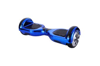 6.5inch Aluminium Wheel Self Balancing Hoverboard Electric Scooter Bluetooth Speaker LED Lights Waterproof Hover Board-Chrome Blue