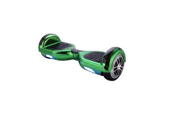 6.5inch Aluminium Wheel Self Balancing Hoverboard Electric Scooter Bluetooth Speaker LED Lights Waterproof Hover Board-Chrome Green