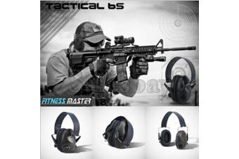 Black Electronic Noise Reduction Earmuffs Input Jack Ear Muffs Shooting Hunting