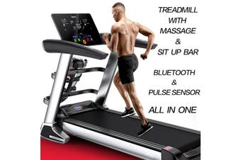 Multi-functional Electric Treadmill Pluse Senser Fitness Home Gym Massage Sit Up Bar