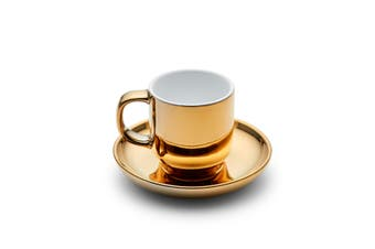 Salt&Pepper METALLIC Espresso Cup and Saucer - Gold