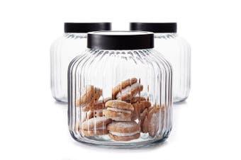 Salt&Pepper BREW Glass Canister Set - 3-Piece - 3-Litre