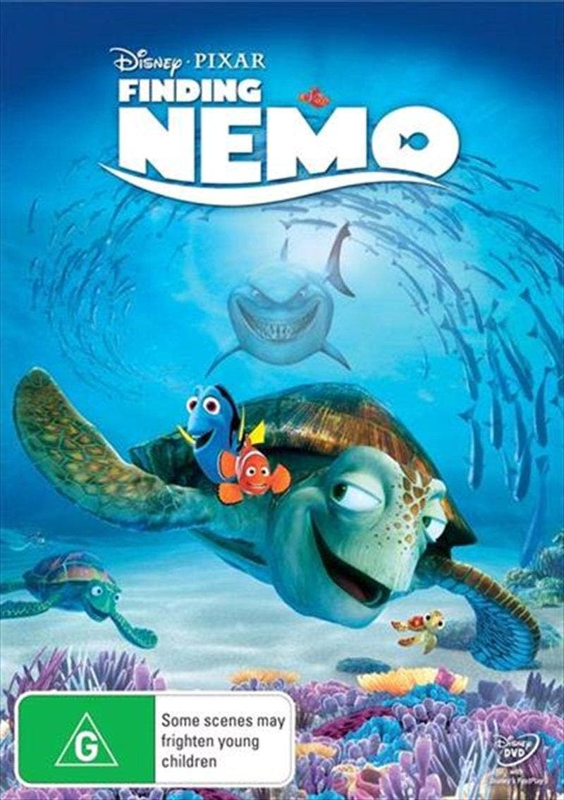 Finding Nemo DVD 71% of the Earth's surface is covered by water. That's a lot of space to find one fish.    From the Academy Award-winning creators of Toy Story and Monsters, Inc., it's time to dive into Finding Nemo – a hilarious adventure that takes you into the breathtaking underwater world of Australia's Great Barrier Reef.   When Nemo, a young clownfish, is unexpectedly carried far from home, his overprotective father, Marlin, and Dory, a friendly but forgetful regal blue tang fish embark on an epic journey that leads to encounters with vegetarian sharks, surfer dude turtles, hypnotic jellyfish and hungry seagulls!   Finding Nemo's breakthrough computer animation is the ultimate viewing experience. This 2-disc Collector's Edition overflows with something for everyone, including exclusive animation, deleted scenes, games, and more! Swimming with laughs and overflowing with emotion – you'll find yourself watching Finding Nemo over and over again!