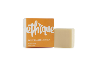 Ethique Solid Butter Block Body Lotion Sweet Orange & Vanilla (100 g)