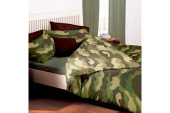Army Camouflage Camo Double/Queen Quilt duvet doona cover set (Queen)