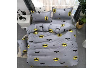 Batman boys Quilt Cover Set, kids (Double)