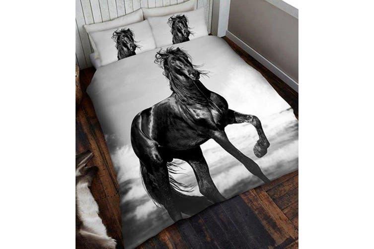 Black Horse  Quilt Cover Set (Single)