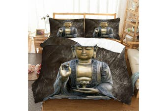 Buddha Quilt Cover Set, India,oriental (Queen)