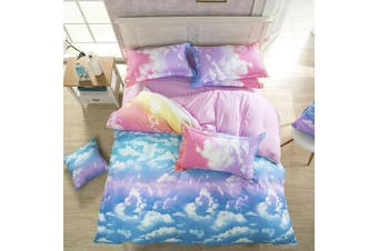 Cloud Sky Blue Quilt Cover Set (Double)