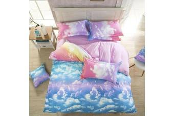 Cloud Sky Blue Quilt Cover Set (Queen)