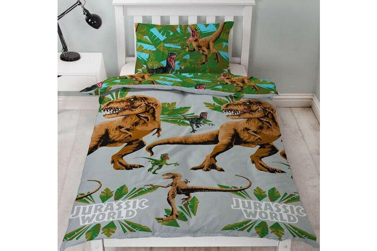 Dinosaur Jurassic World Single Quilt duvet doona cover set