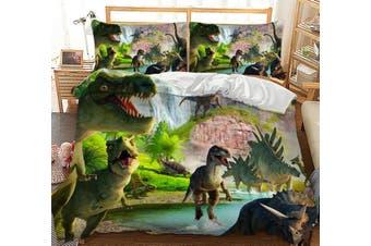 Dinosaur Jurassic Quilt Cover Set, kids,t rex (Queen)