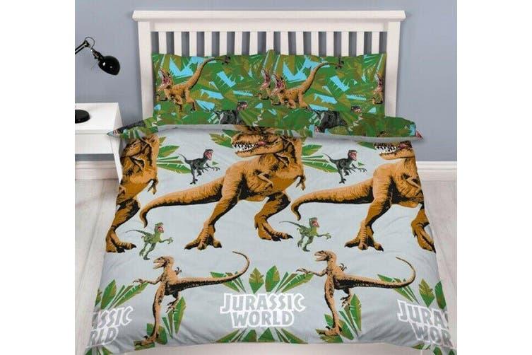 Dinosaur Jurassic World Quilt Cover Set (Double)