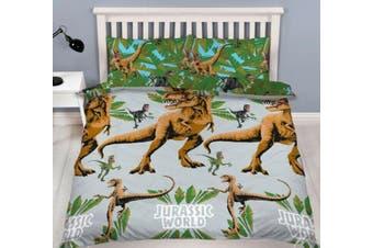 Dinosaur Jurassic World Quilt Cover Set (Queen)