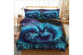 Dragon Quilt Cover Set (Queen)