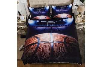 Basketball Quilt Cover Set, kids (Queen)
