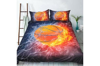 Basketball Quilt Cover Set, sports (Single)