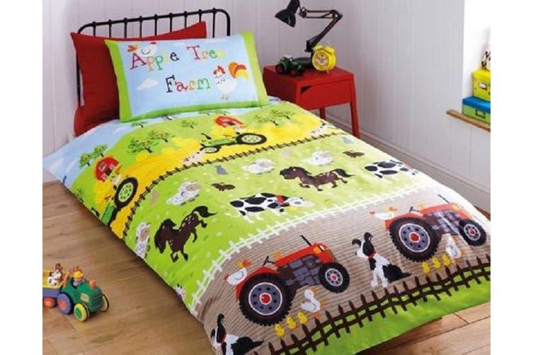 Farm Toddler Junior Cot Quilt Cover Set, Farm Toddler Bedding Sets