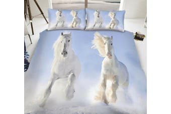 Horse Pony Single Quilt Cover Set