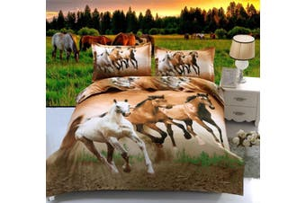 Horse  Quilt Cover Set (Double)