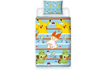 Pokemon Single Quilt duvet doona cover set