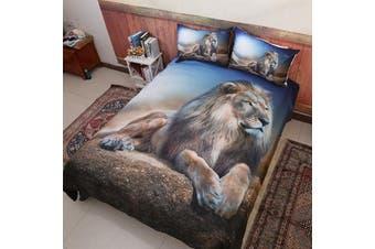 Lion Quilt Cover Set (Queen)