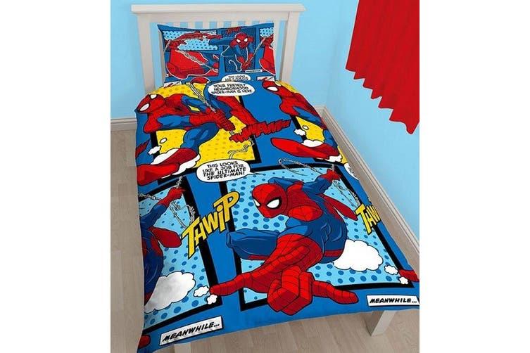 Spiderman Avengers Single Quilt Cover Set