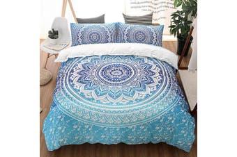 Mandala blue Quilt Cover Set, India,oriental (Double)